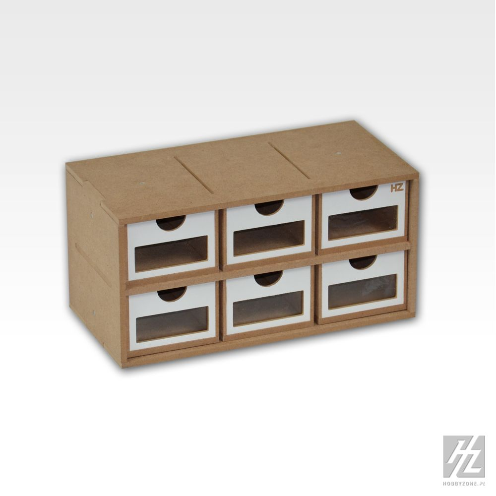 Om01a drawers module x 6 for Ladeblok systeem
